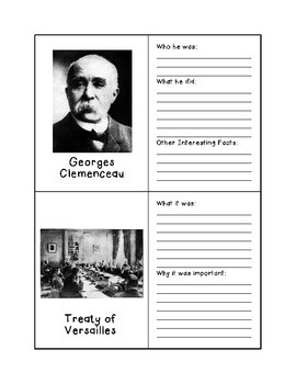 World History Flashcards - End of World War I