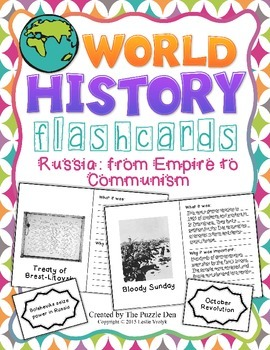 World History Flashcards - Russia: from Empire to Communism