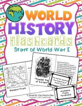 World History Flashcards - Start of World War I