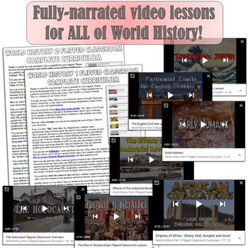 World History Flipped Classroom Bundle