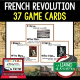 French Revolution Game Cards, World History Test Prep