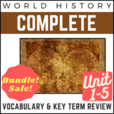 PowerPoints World History Full 1-5 Vocab. Review: Early Civs. to Industrial Era