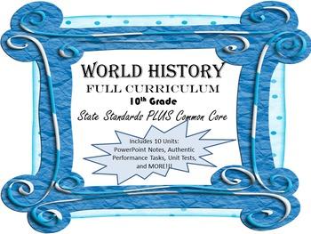 World History Full Year Curriculum - 10th Grade