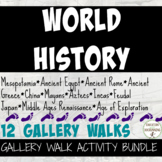 World History Gallery Walk Activity Bundle Ancients to Ren