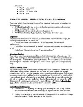 World History/Geography Example Syllabus