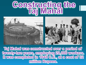 Taj Mahal Virtual Field Trip PowerPoint (World History / Geography)