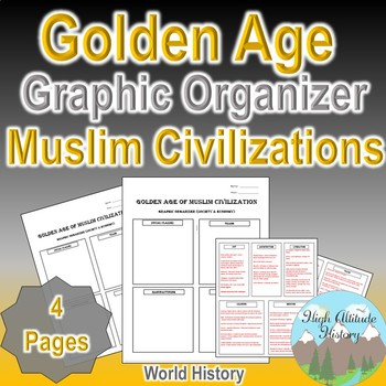 Golden Age of Muslim Civilizations Chart / Graphic Organizer (World History)