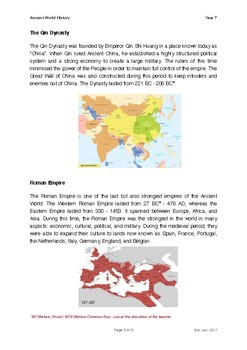 World History Grade 7 - Lesson 1: Introduction to World History