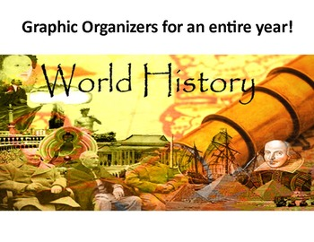 World History Graphic Organizer bundle with keys & questions