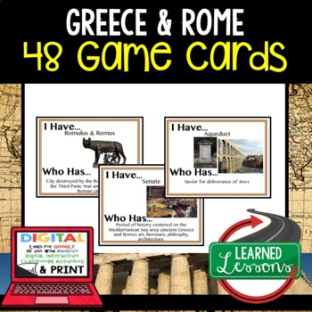 World History Greece, Rome, and Christianity 48 I Have Who Has Game Cards