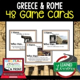 Ancient Greece Game Cards Rome Game Cards World History Test Prep BUNDLE