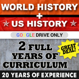 World History Greece to Cold War & US History Early America -1970's GOOGLE DRIVE
