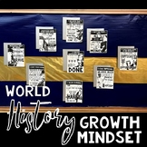 World History Growth Mindset Posters and Activity