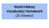 World History Homework - Entire Year! (Middle School)