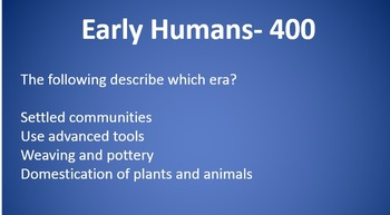 World History I SOL Jeopardy Review Early Humans, River Valleys, Empires, Religi