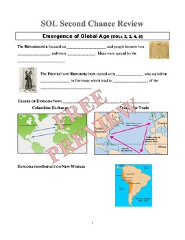 World History II SOL Prep and Review (End of Course Review) Retake Packet