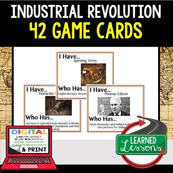 World History Industrial Revolution 41 I Have Who Has Game Cards