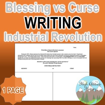 Industrial Revolution Blessing or Curse? Writing Assessment (World History)