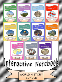 World History: Interactive Notebook with PowerPoints Bundle [11 Units!]