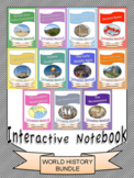 World History: Interactive Notebook with PowerPoints Bundl