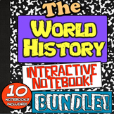 World History Interactive Notebook Bundle! 10 Notebooks for World History!