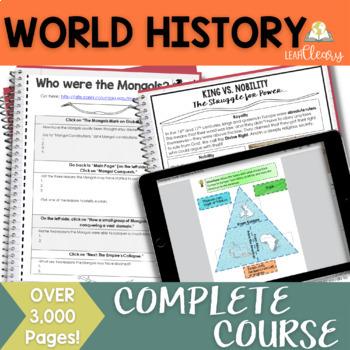 World History Interactive Notebook Mega Bundle Complete Curriculum