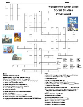 World History: Intro to Textbook Crossword