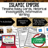 Islamic Empires Timeline Relay & Writing  with Google Link