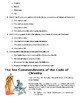 World History:Knights,Chivalry Codes of Conduct Reading and SAT Style questions