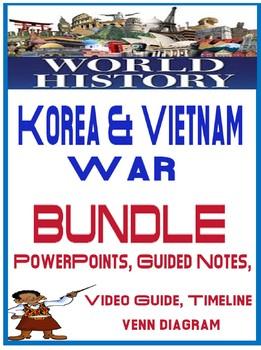 World History Korea/Vietnam War Lesson Bundle PowerPoint Guided Notes Activity
