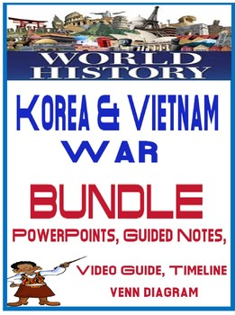 World History Korea and Vietnam War Lesson Bundle