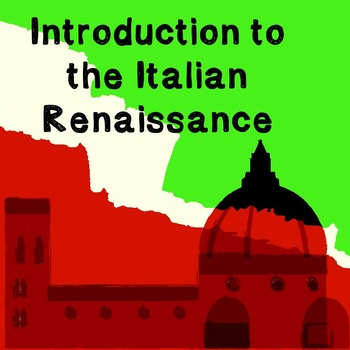 World History Lesson Plan: Introduction to the Italian Ren