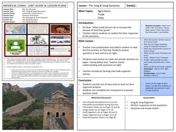 World History : Lesson Plans
