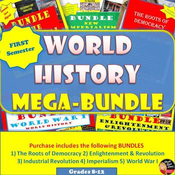 World History MEGA BUNDLE  (High School)–SAVE $$$