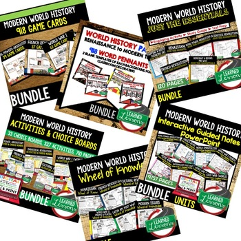 World History MEGA BUNDLE Renaissance to Modern Times (World History Bundle)