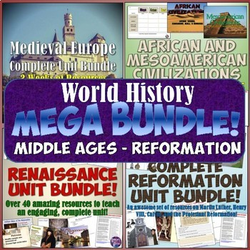 World History MEGA Bundle #3: Middle Ages - Reformation
