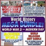 World History MEGA Bundle #6: World War 2 - Modern World &