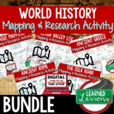 World History Map Activity BUNDLE, Mapping World History P