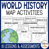 World History Map Activities Bundle | Google Classroom Version Included