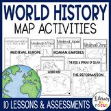World History Map Activities Bundle | Google Classroom | Printable & Digital