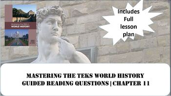 World History Mastering the TEKS: The Renaissance and Reformation