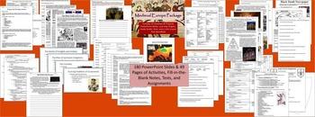 World History Bundle - 8 Units - Medieval Period to World War II