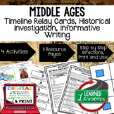 World History Middle Ages Timeline Relay, Research, Writin