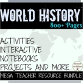 World History Middle school Curriculum Bundle