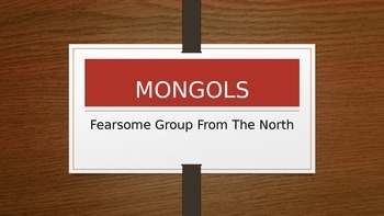 World History: Mongols Powerpoint