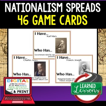 World History Nationalism Spreads Game Cards 46 I Have Who