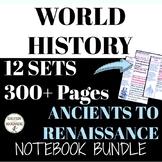 World History Notes Interactive Notebook Ancients to Renai