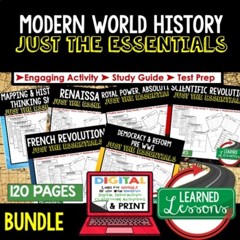 World History Outline Notes JUST THE ESSENTIALS Unit Review BUNDLE