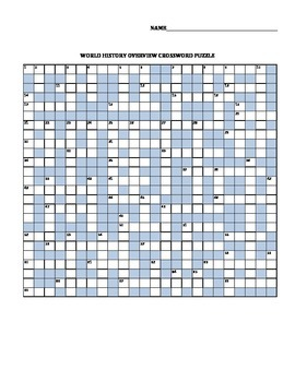 World History Overview Crossword Puzzle