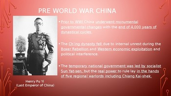 World History PPT China: Chiang Kai-shek and Chairman Mao